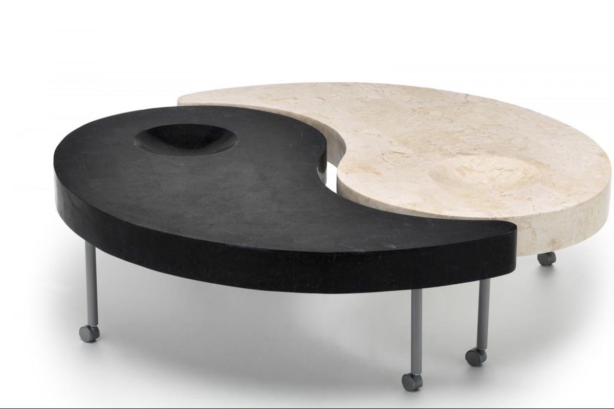YIN & YANG kő design dohányzóasztal | természetes kő