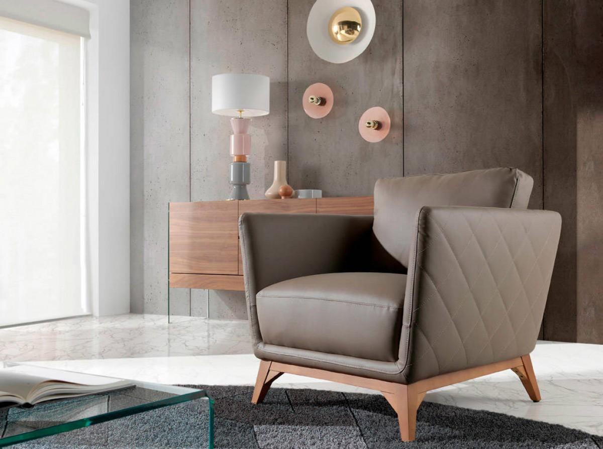 MONTENEGRO design bőr fotel tóp   Modern bőr fotel