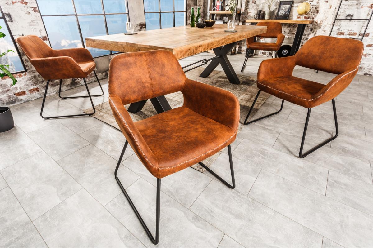 MUSTANG modern étkezőszék barna | Design étkezőszék