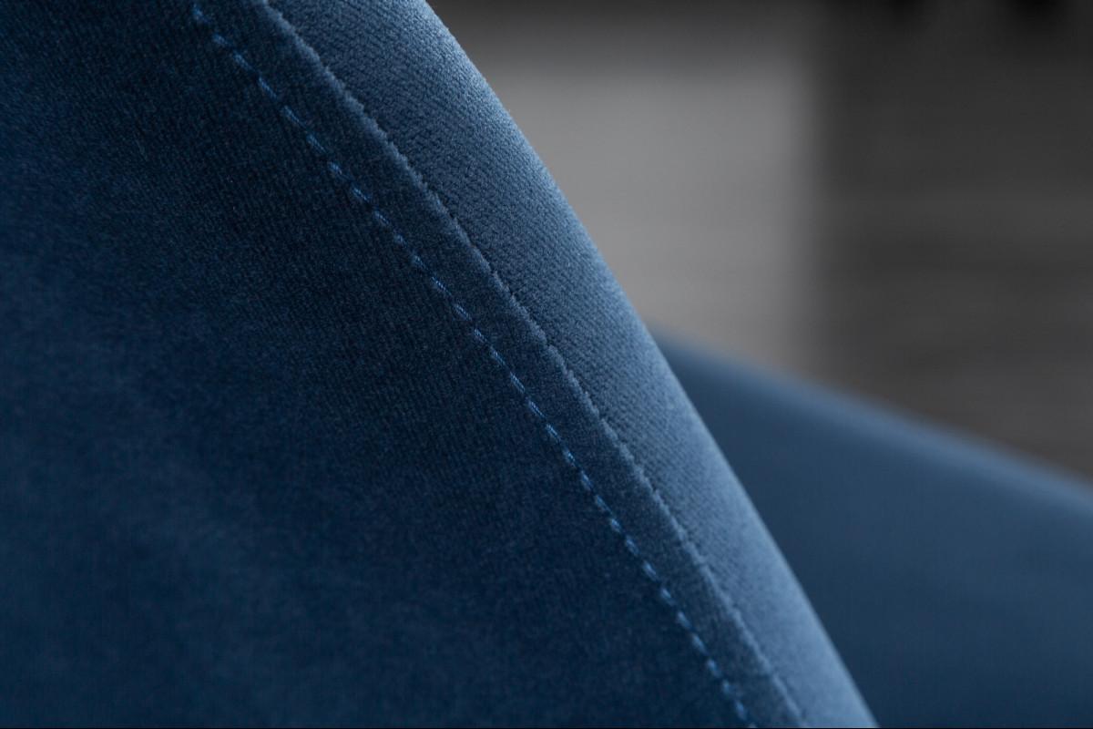 SCANDINAVIA design bársony szék kék   Exkluzív étkezőszék